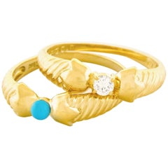 Pair of Christian Dior Gold Rings  Buy The Look