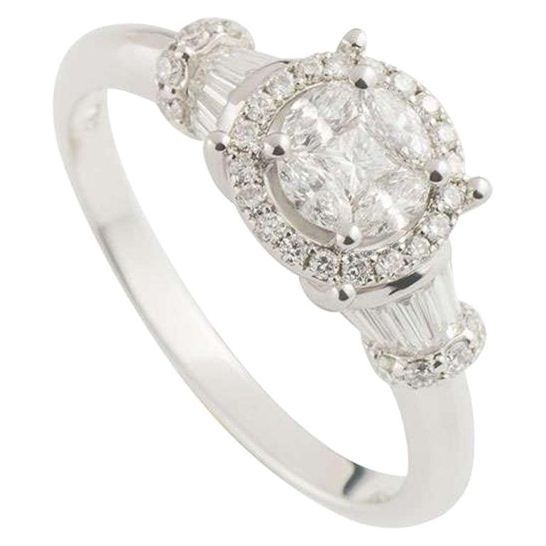 Diamond Cluster Ring 0.71ct