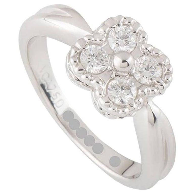 Van Cleef & Arpels Diamond Alhambra Ring For Sale