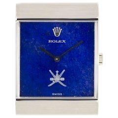 Rolex White Gold King Midas Cellini Omani Crest Manual Wind Wristwatch