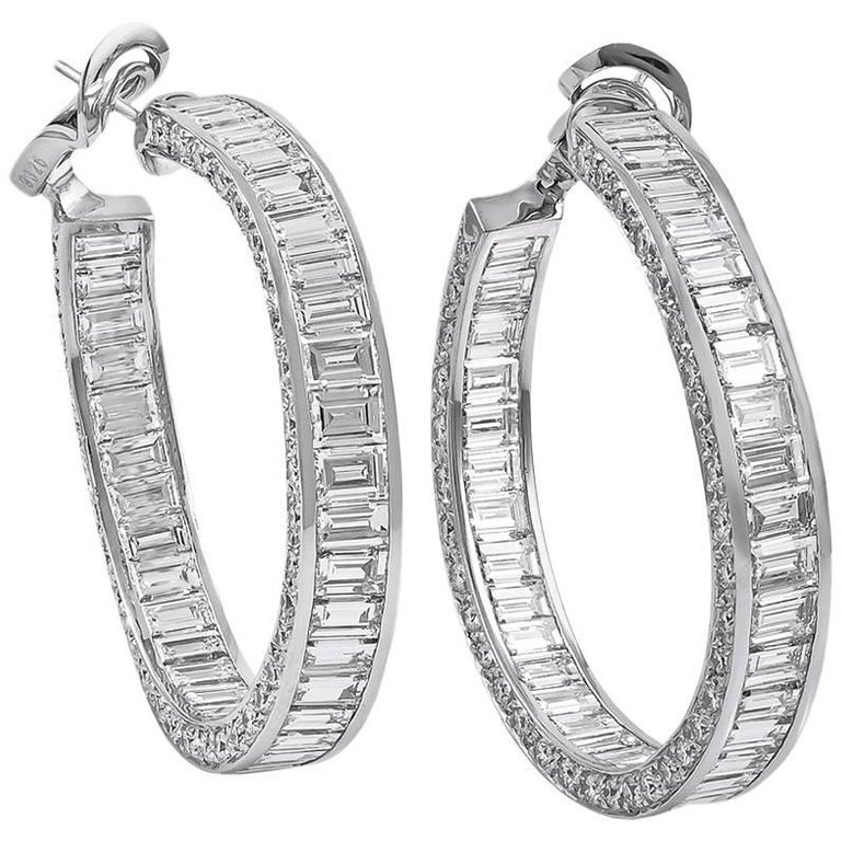 Graff Inside Out Diamond Hoop Earrings For Sale