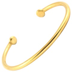 Julius Cohen 24 Kt Gold Bangle Bracelet