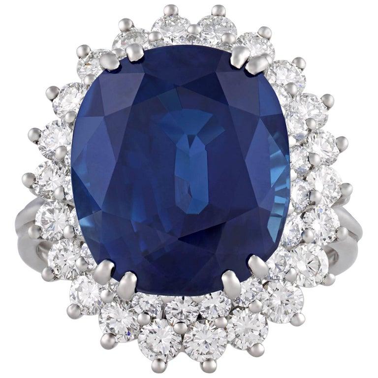 Tiffany & Co. Ceylon Sapphire Ring, 10.93 Carat For Sale