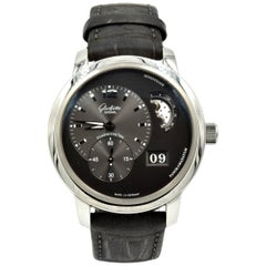 Glashutte Stainless Steel PanoMaticLunar Moonphase automatic Wristwatch
