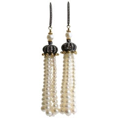 Graduated Pearl Tassel Earrings