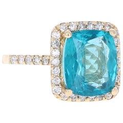 6.26 Carat Apatite Diamond Engagement Ring