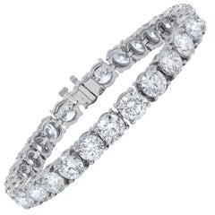 27.23 Carat Tennis Bracelet, 1 Carat Each Stone