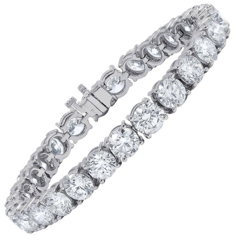 27 23 Carat Tennis Bracelet 1 Each Stone For