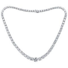 GIA Certified 49.00 Carat Diamond Tennis Necklace