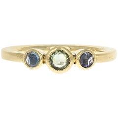 Alice Ring 18 Karat Yellow Gold Rosecut Sapphire