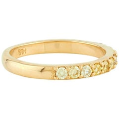 Aster Natural Yellow Diamond Half Eternity Wedding Band