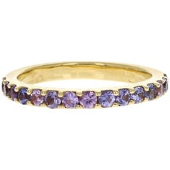 Aster Purple Sapphires Half Eternity Wedding Band