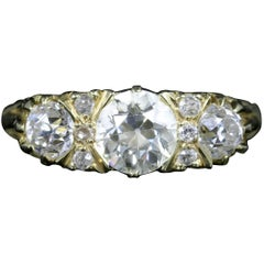 Antique Victorian Diamond Ring 18 Carat Gold 2.20 Carat Diamonds