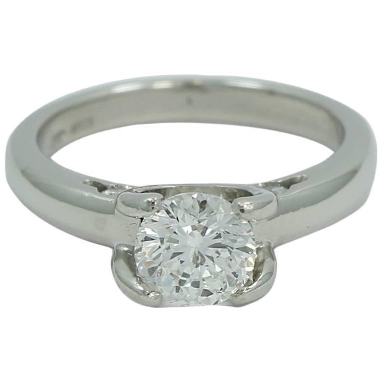 1 03 Carat Round Diamond Cento Roberto Coin Ring For