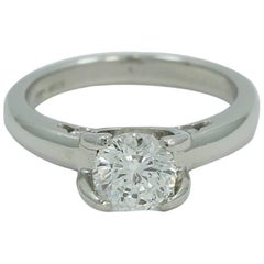1.03 Carat Round Diamond Cento Roberto Coin Ring