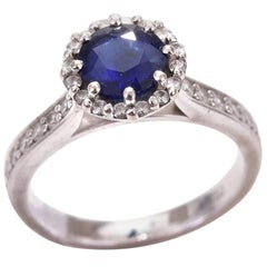 Sapphire 1.08 Carat Diamond Engagement Ring Valuation