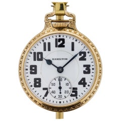 Hamilton Yellow Gold Filled Railroad Caliber 992 Pocket Watch, circa 1936