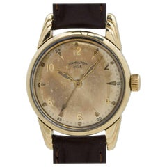 Hamilton Yellow Gold Filled CLD Lyndon Manual Wind Wristwatch, circa 1952