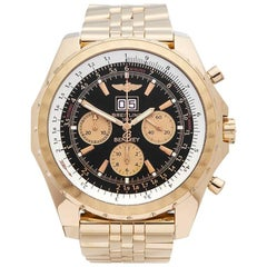 Breitling Bentley Chronograph 18 Karat Yellow Gold Men's H44363