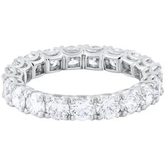 2.80 Carat Total Round Diamond Platinum Eternity Wedding Band