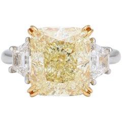 6 Carat GIA Certified Yellow Diamond Ring
