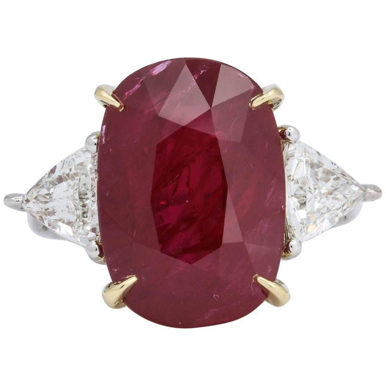 11.50 Carat GIA Certified Ruby Ring For Sale