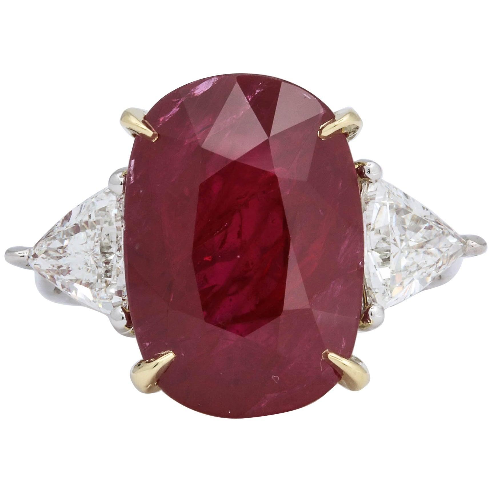 11.50 Carat GIA Certified Ruby Ring