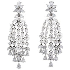 Grand Diamond Chandelier Dangle Earrings