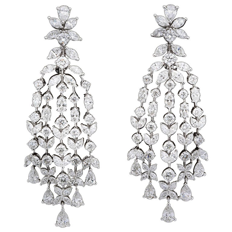 Grand diamond chandelier dangle earrings for sale at 1stdibs grand diamond chandelier dangle earrings for sale aloadofball Image collections
