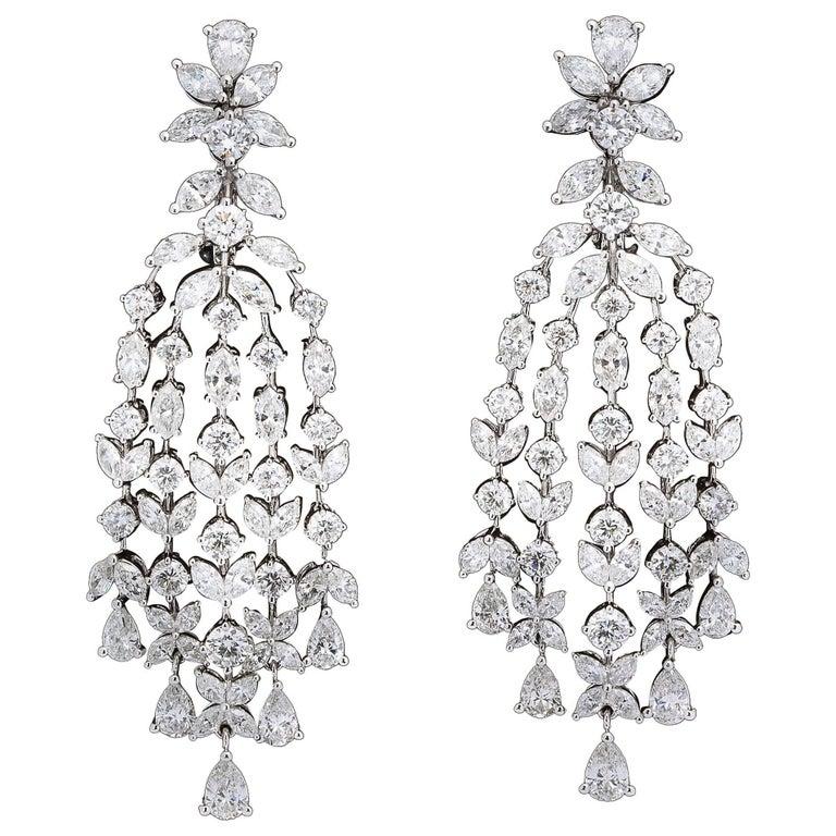 Grand Diamond Chandelier Dangle Earrings