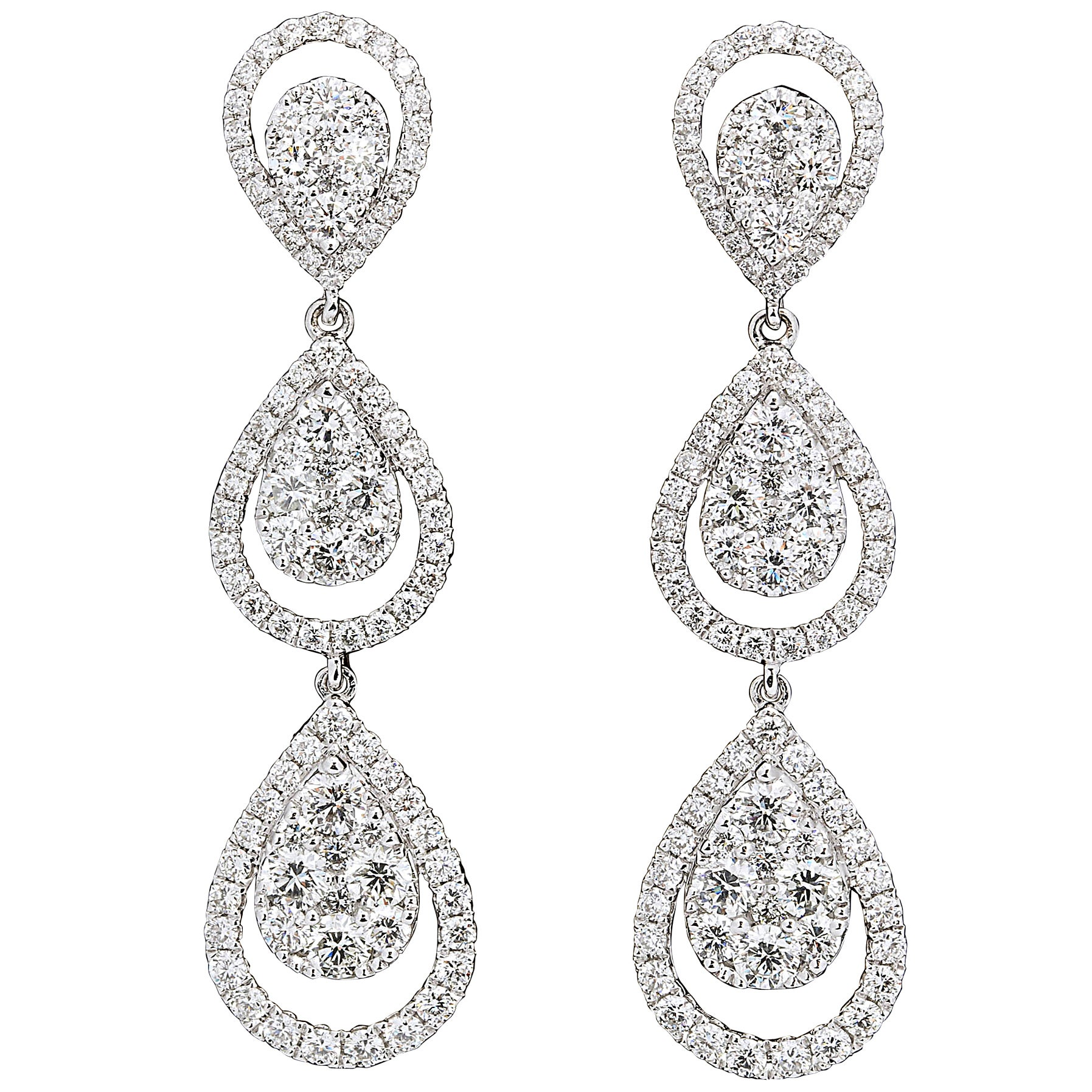 Diamond Dangle Drop Earrings