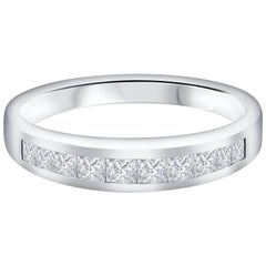 Princess Cut Diamond Platinum Wedding Band