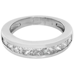 Princess Cut Diamond Platinum Band