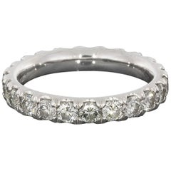 2.37 Carat Platinum Round Diamond Eternity Wedding Band Ring