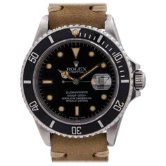 Rolex Stainless Steel Submariner Transitional Automatic Wristwatch, circa 1986