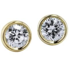 0.45 Carat Round Diamond Pave Stud Earrings
