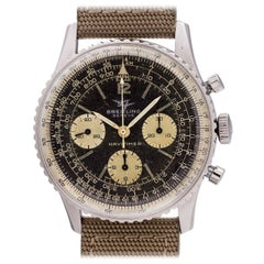 Breitling Stainless Steel Navitimer Twin Jets Manual Wind Wristwatch Ref 806