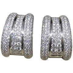 Chopard La Strada 18 Karat White Gold Pave Diamond Earrings