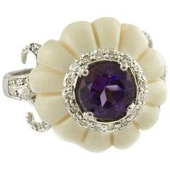 Diamonds Bone White Gold Fancy Ring