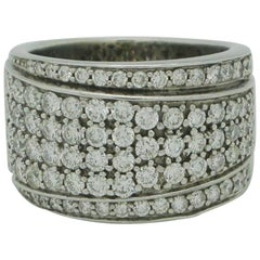 14 Karat White Gold 2 Carat Diamond Cluster Right Hand Ring