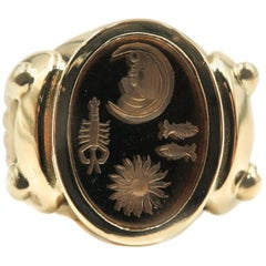 Celestial Horoscope Yellow Gold Ring by B. Kieselstein Cord