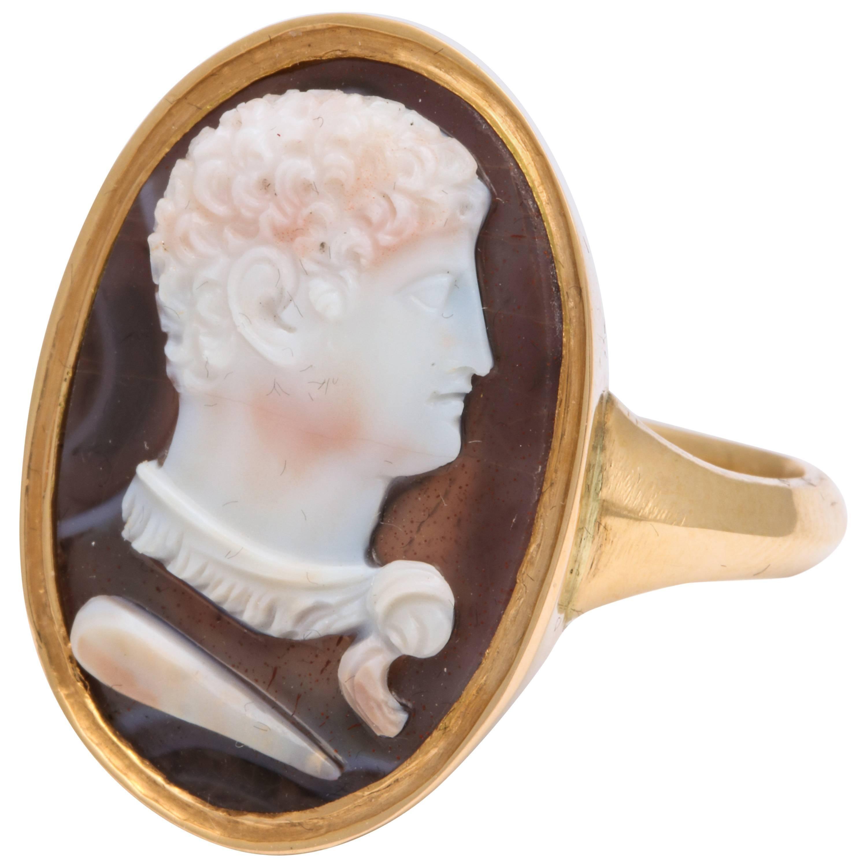 Antique Georgian Hercules Cameo Ring