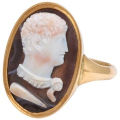 Antique Georgian Hercules Cameo Ring