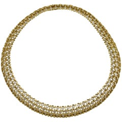 Vintage Yellow Gold Diamond Necklace by Mauboussin from Paris