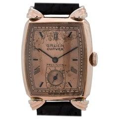 Gruen Pink Gold Filled Veri-Thin Manual Dress Wristwatch, circa 1940s