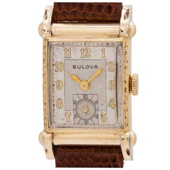 Bulova Yellow Gold Filled Stainless Steel Manual Wind Dress Wristwatch