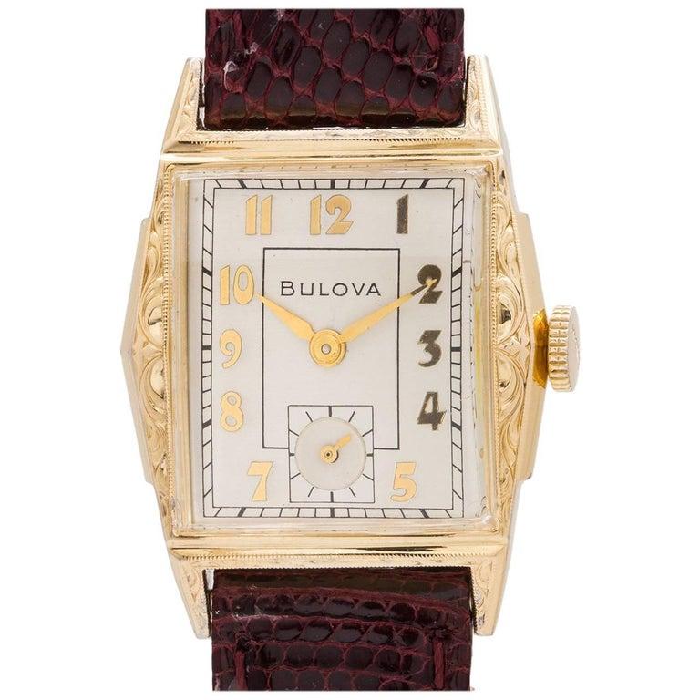 Bulova Yellow Gold Filled Manual Wind Dress Wristwatch, circa 1951