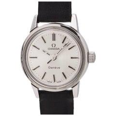 Omega Ladies Stainless Steel Geneve Manual Wind Wristwatch Ref 535.025