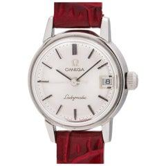 Omega Ladies Stainless Steel Ladymatic Self Winding Wristwatch, circa 1960s