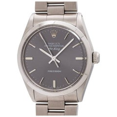 Rolex Stainless Steel Oyster Perpetual Airking Self Winding Wristwatch Ref 5500